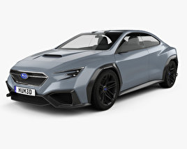 3D model of Subaru VIZIV Performance 2017