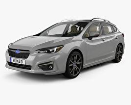 3D model of Subaru Impreza 5-door hatchback with HQ interior 2016