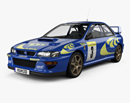 3D model of Subaru Impreza 22B Rally coupe 1997