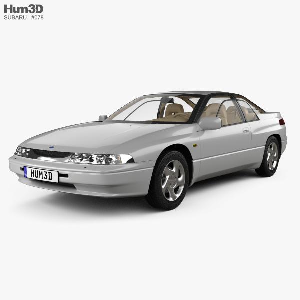 Subaru SVX with HQ interior 1992 3D model