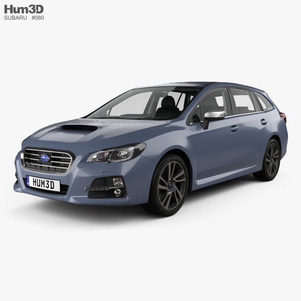 Subaru Levorg with HQ interior 2015 3D model