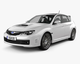 3D model of Subaru Impreza WRX STI with HQ interior 2010