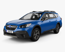 3D model of Subaru Outback Touring 2020