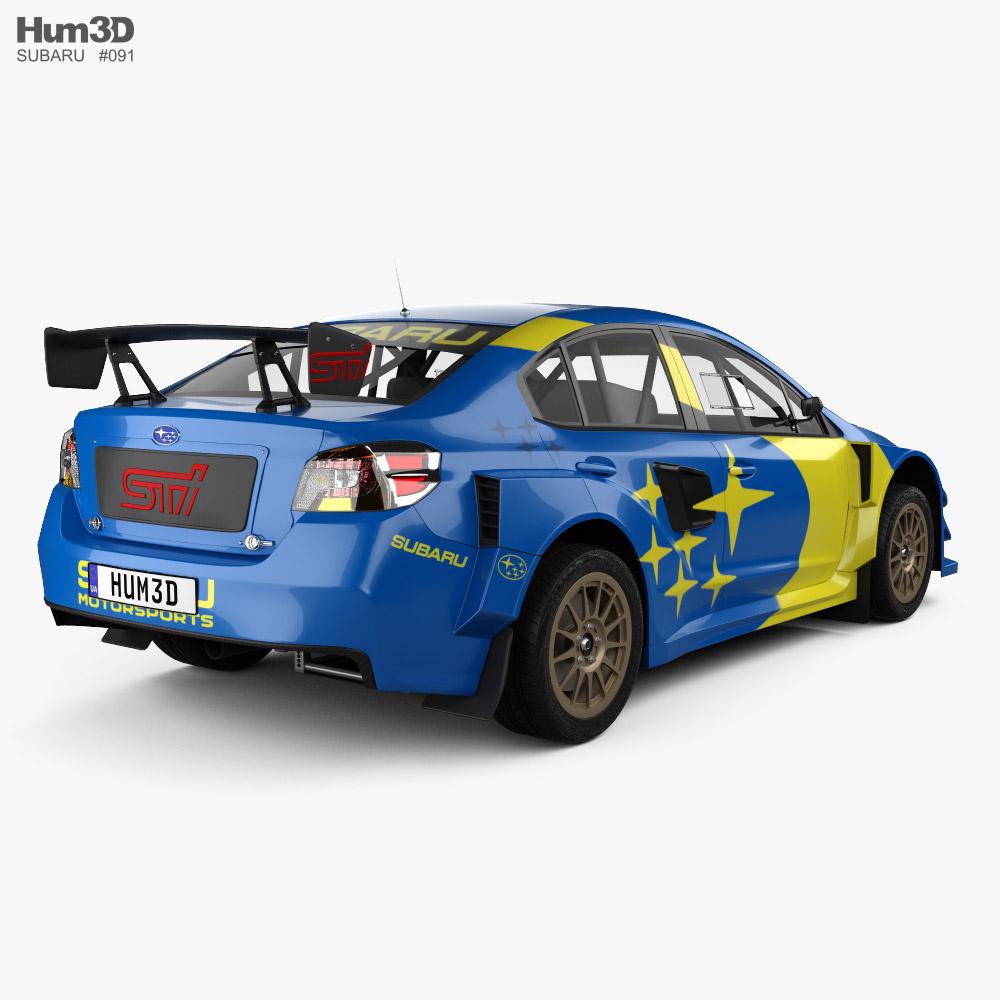 Subaru WRX Rally 2021 3d model
