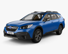 Subaru Outback Touring mit Innenraum 2020 3D-Modell