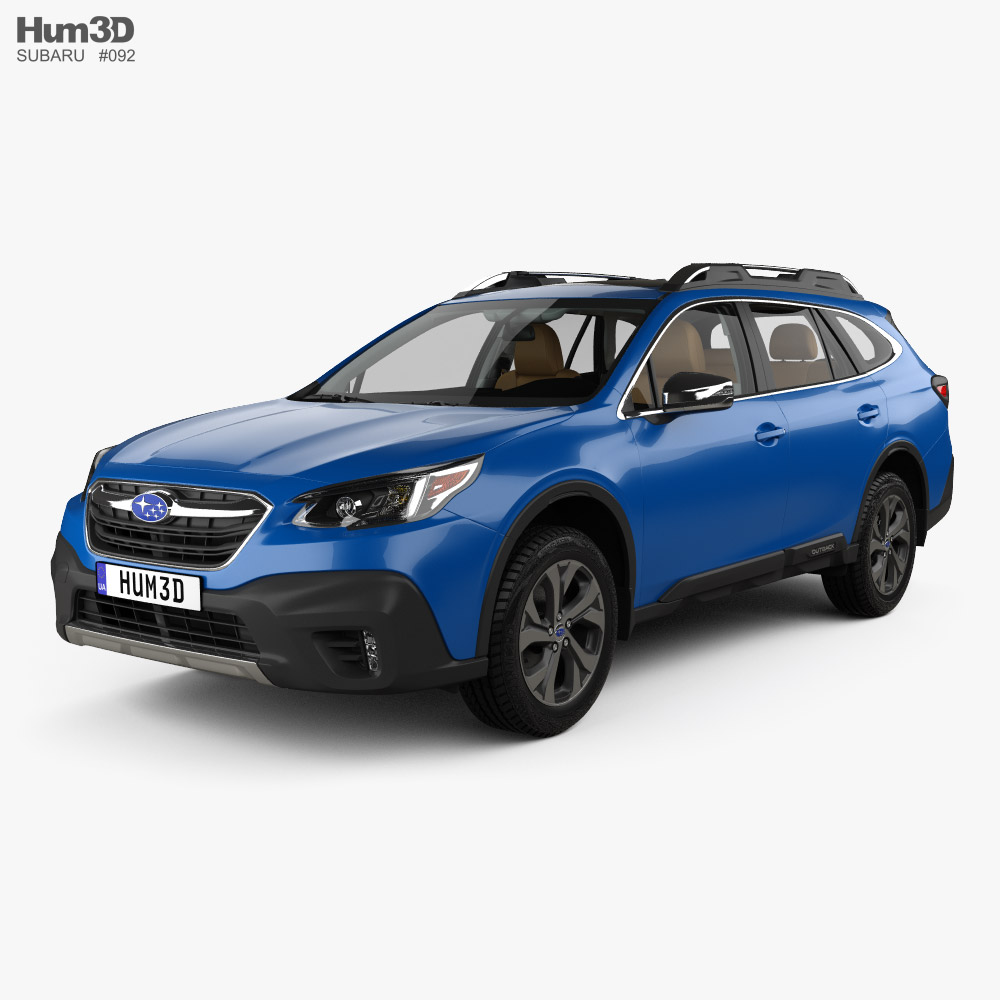 Subaru Outback Touring with HQ interior 2020 3D model