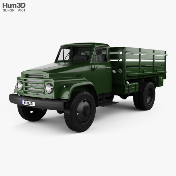 3D model of Sungri 61NA Flatbed Truck 1979