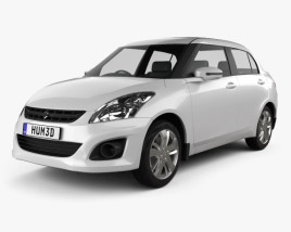 3D model of Suzuki (Maruti) Swift Dzire sedan 2012