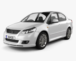 3D model of Suzuki (Maruti) SX4 sedan 2012