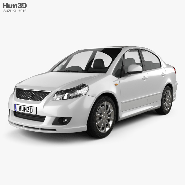 3D model of Suzuki (Maruti) SX4 sedan 2012