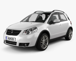 3D model of Suzuki (Maruti) SX4 hatchback 2012