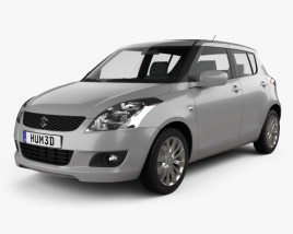3D model of Suzuki Swift hatchback 5-door 2012