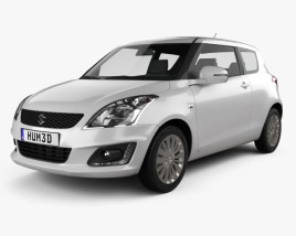 3D model of Suzuki Swift hatchback 3-door 2014