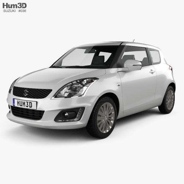 Suzuki Swift hatchback 3-door 2014 3D model
