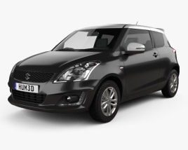3D model of Suzuki Swift SZ-L hatchback 3-door 2014