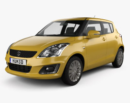 3D model of Suzuki Swift hatchback 5-door 2014