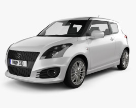3D model of Suzuki Swift Sport hatchback 3-door 2014