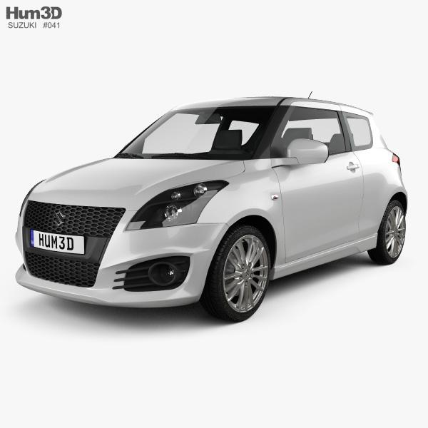 Suzuki Swift Sport hatchback 3-door 2014 3D model