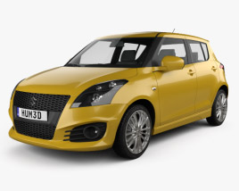 3D model of Suzuki Swift Sport hatchback 5-door 2014