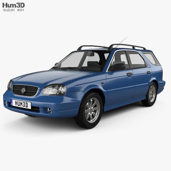 Suzuki Baleno (Esteem) 1999 3D model