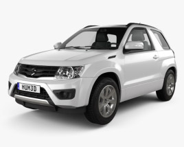 3D model of Suzuki Grand Vitara 3-door 2012