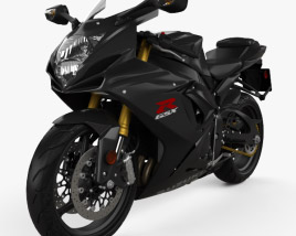 3D model of Suzuki GSX-R750 2016