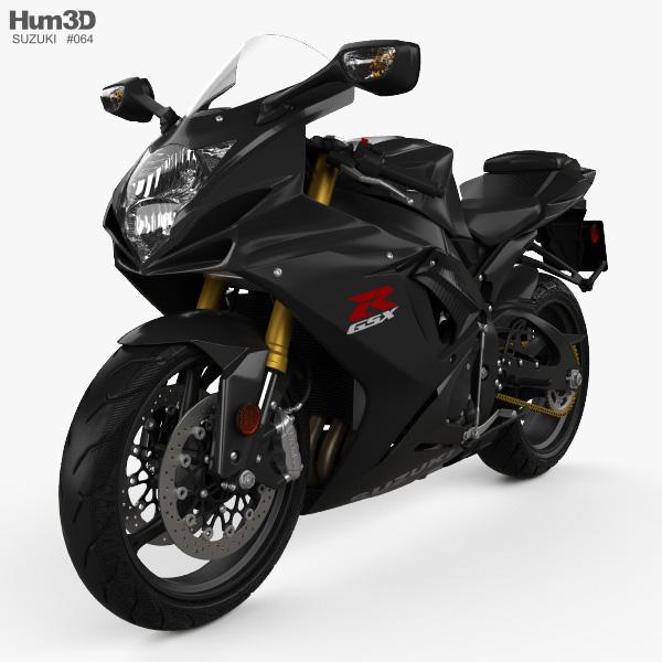 3D model of Suzuki GSX-R750 2016