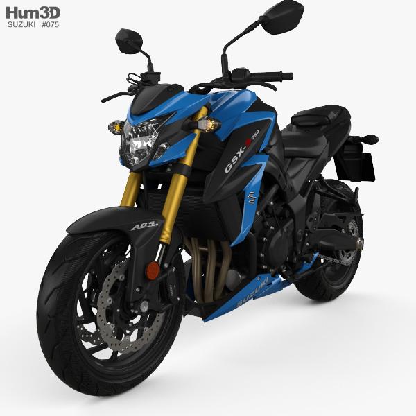 3D model of Suzuki GSX-S750 2017