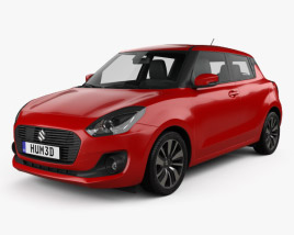 3D model of Suzuki Swift 2017