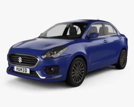 3D model of Suzuki (Maruti) Swift Dzire 2017