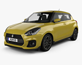 3D model of Suzuki Swift Sport 2017
