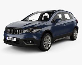 3D model of Suzuki SX4 S-Cross with HQ interior 2016