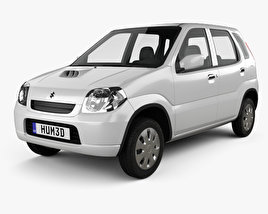 3D model of Suzuki Kei 5-door 2000