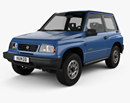3D model of Suzuki Vitara 3-door 1989