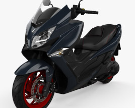 3D model of Suzuki Burgman 400 2017