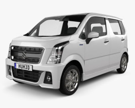 3D model of Suzuki Wagon R Stingray Hybrid 2018