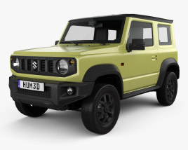 3D model of Suzuki Jimny Sierra 2019
