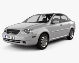 3D model of Suzuki Forenza sedan 2006