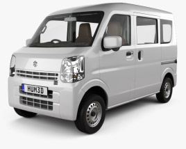 3D model of Suzuki Every with HQ interior 2015
