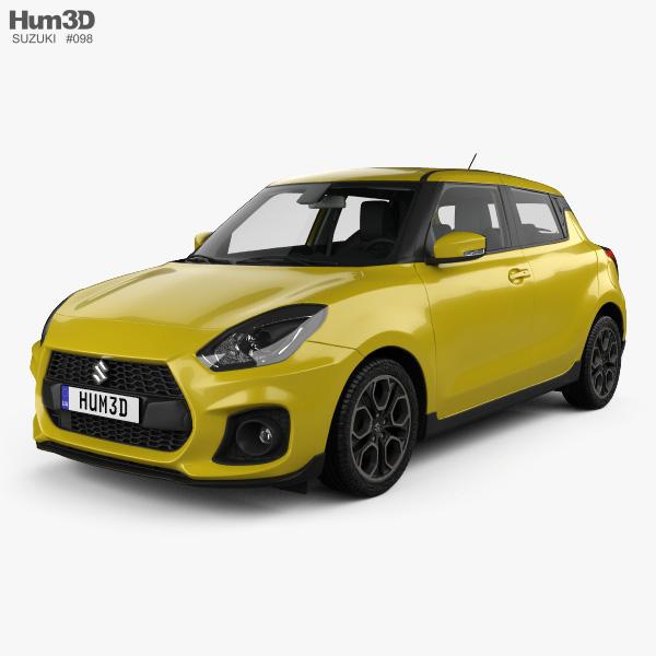 Suzuki Swift Sport with HQ interior 2017 3D model