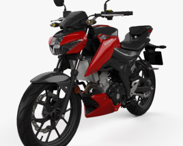 3D model of Suzuki GSX-S125 2018