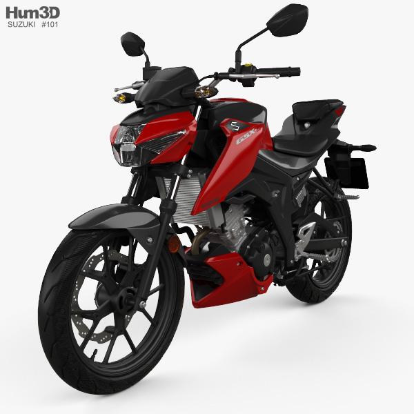 3D model of Suzuki GSX-S125 2018