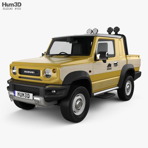 3D model of Suzuki Jimny Sierra Pickup 2019