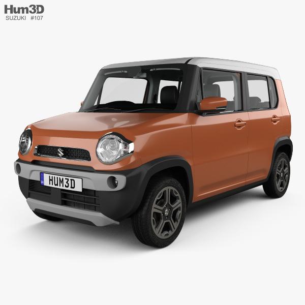 3D model of Suzuki Hustler with HQ interior 2013