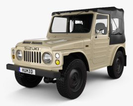 3D model of Suzuki Jimny with HQ interior 1977