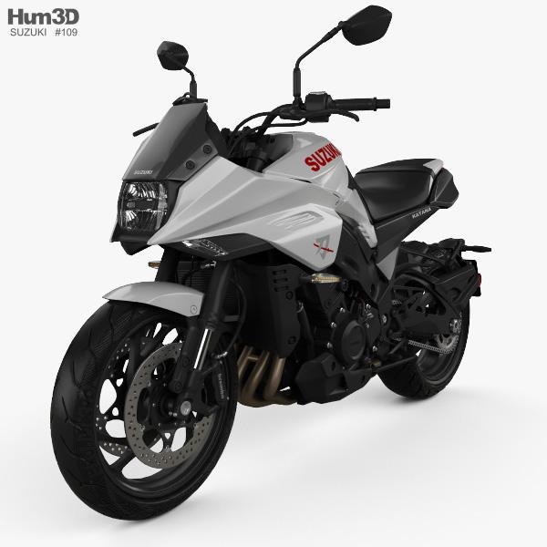 3D model of Suzuki Katana 1000 2019