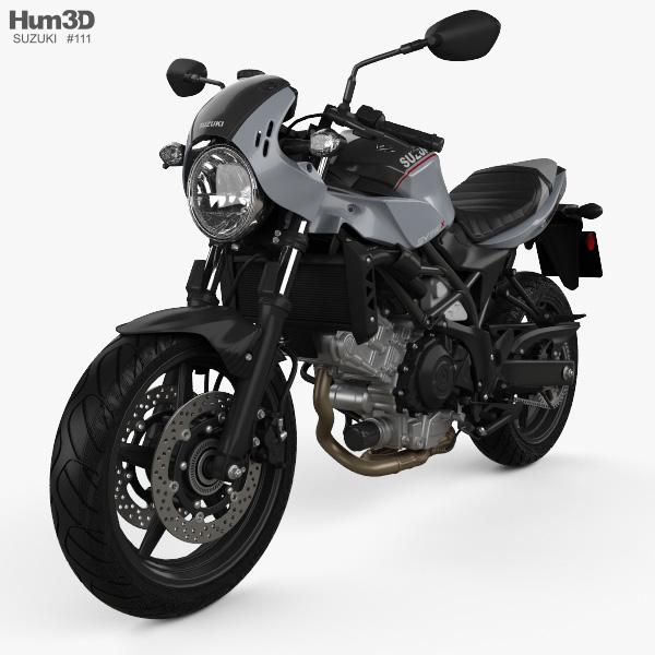 3D model of Suzuki SV650X 2018