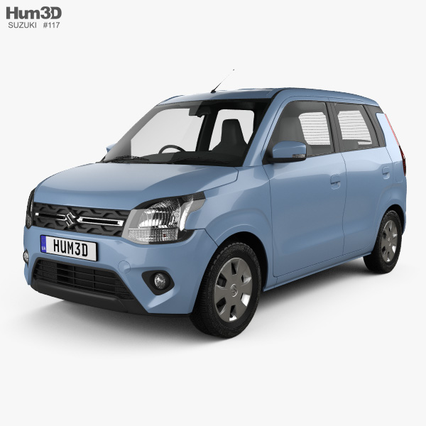 3D model of Suzuki Maruti Wagon R 2019