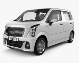 3D model of Suzuki Wagon R Stingray Hybrid with HQ interior 2018