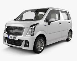 Suzuki Wagon R Stingray Hybrid with HQ interior 2018 3D model